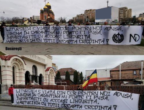 """Fii ai României s-a alăturat inițiativei Grupului """"NOI"""" care printr-un frumos text afișat în fața Catedralei Neamului Românesc"""